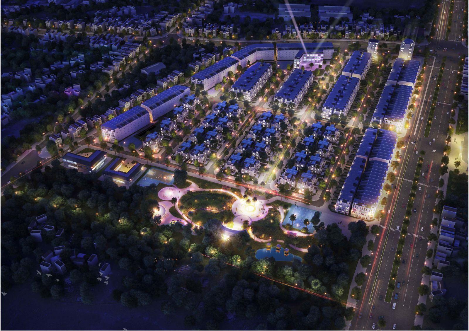 Image result for khu đô thị xanh phối cảnh